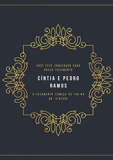 black and gold embellishments wedding cards Cartão de felicitações aos noivos