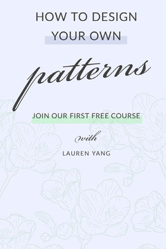 pattern design Pinterest ad Educational Course