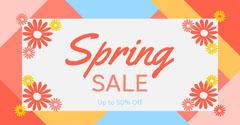 Spring Sale Facebook Post Spring
