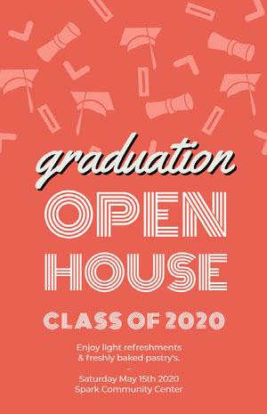 OPEN<BR>HOUSE Graduation Poster