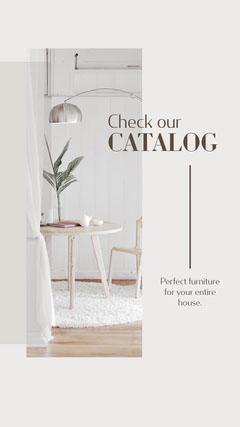Furniture Catalog Instagram Story Interior Design