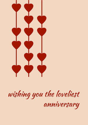 wishing you the loveliest anniversary Festkort