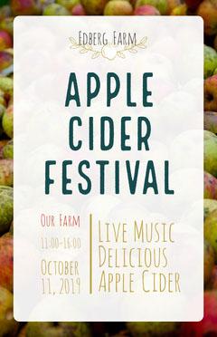 Apple Cider Festival Live Music Flyer