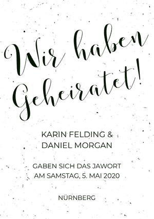 black and white textured wedding announcements  Hochzeitsanzeigen