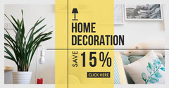 Home Decoration Facebook Ad Yellow
