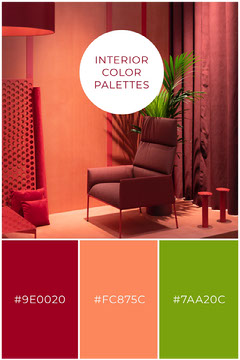Colorful Interior Color Palettes Pinterest Interior Design