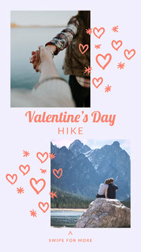 valentines hike igstory messages d'amour