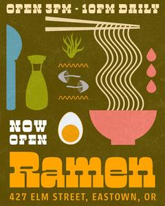 Green Ramen Restaurant Instagram Portrait Ramen