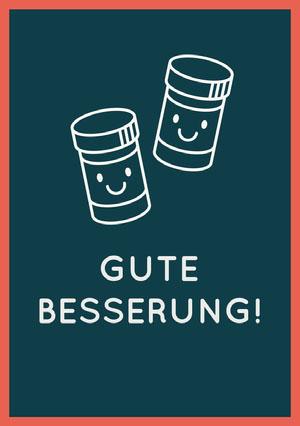 pill bottles get well soon cards Genesungskarte