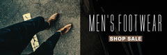 Black Filtered Mens Shoes Fashion Web Banner Sale Flyer