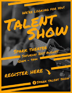 Show Talent Show Flyer