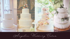 Wedding Cake Blog Post Graphic with Collage Cakes