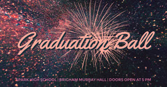 Graduation Ball Facebook Event Cover with Fireworks Fireworks