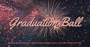 Graduation Ball Facebook Event Cover with Fireworks Graduation Card