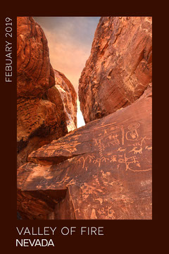 Minimal Valley of Fire Photobook cover Photography