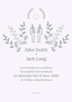 John Smith <BR>+<BR> Jack Long Weddings