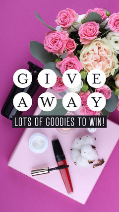 Pink Flowers Makeup Giveaway Instagram Story Makeup