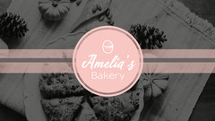 Pink & Greyscale Bakery Facebook Cover Bakery