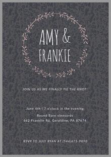 Amy & Frankie Convite de casamento