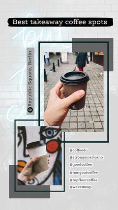 Black Grey Best Takeaway Coffee Instagram Story  Coffee