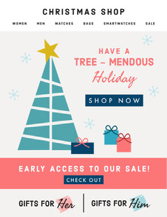 Christmas Sale Newsletter  Holiday Sale