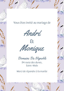 swan patterned wedding cards Carte de remerciement de mariage