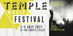Green & Grey Geometric Music Festival Eventbrite Profile Festival
