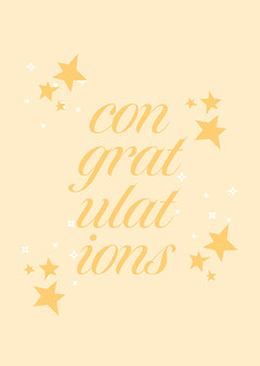 Yellow Stars Congratulations Card Stars
