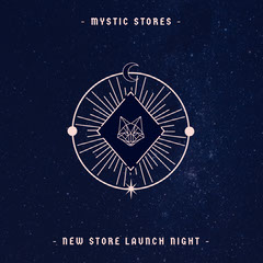 Navy Occult Night Sky Mystic Store Instagram square Launch