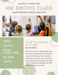 Green School and Education Newsletter Newsletter Examples
