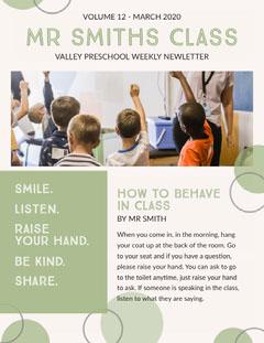 School Newsletter Kids