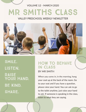 Green School and Education Newsletter Newsletter