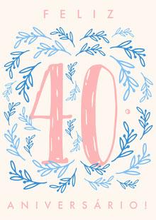 fortieth birthday cards  Cartão de aniversário