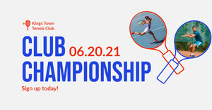 Red White Blue Tennis Club Championship Facebook Post Sports Collage