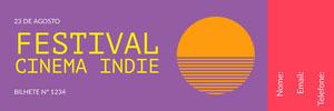 <BR>Festival Cinema Indie  Ingresso