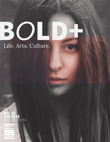 Brown and Black and White Lifestyle Magazine Cover with Portrait of Woman Magazine Cover
