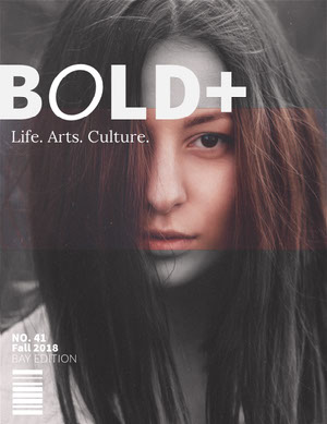 Brown and Black and White Lifestyle Magazine Cover with Portrait of Woman 50 caratteri moderni