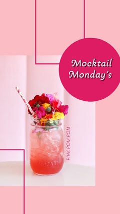 Pink Mocktail Monday Drinks Instagram Story Cocktails