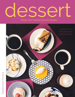 Violet and Delicious Desserts Magazine Cover Chef