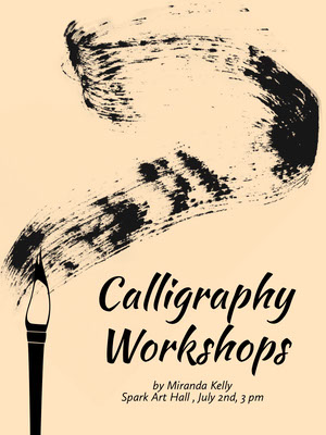 Calligraphy Workshop Event Poster Póster de evento