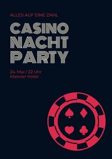 Casino Nacht Party Einladung