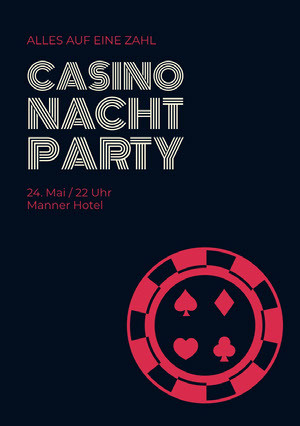 Casino Nacht Party Einladung zur Party