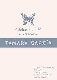Tamara García  Invitación