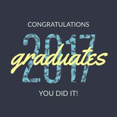 Blue and Yellow Graduation Wishes Instagram Post Graduation Congratulation