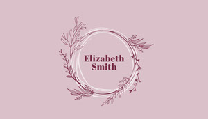 pink foliage wedding place card Marque-place
