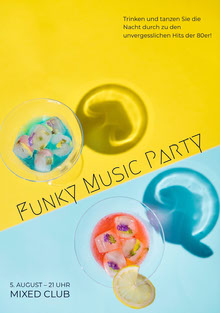 Funky Music Party Einladung