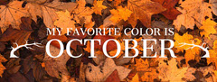 Autumn Leaf Color October Quote Facebook Banner Fall