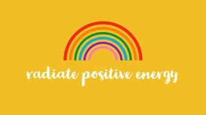 Yellow With Rainbow Positive Energy Desktop Wallpaper Desktop Wallpaper
