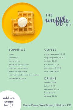 waffle hut menu Dessert
