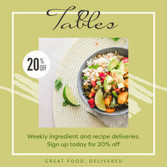 Green Tables Food Delivery Instagram Square Promotion